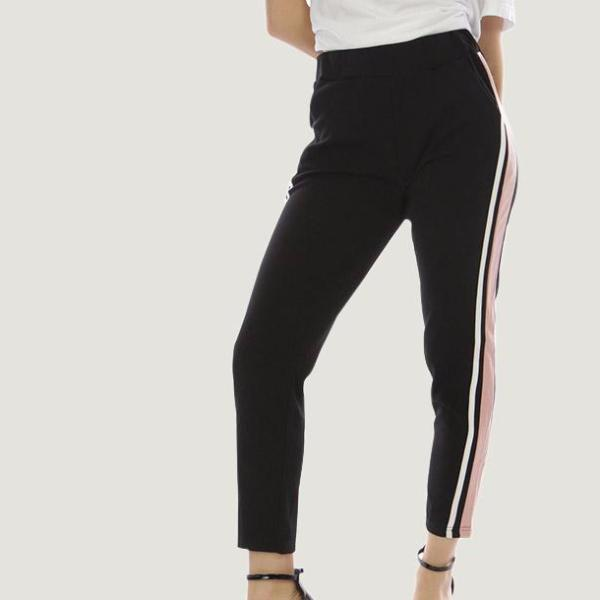 Stripe Jogger Black