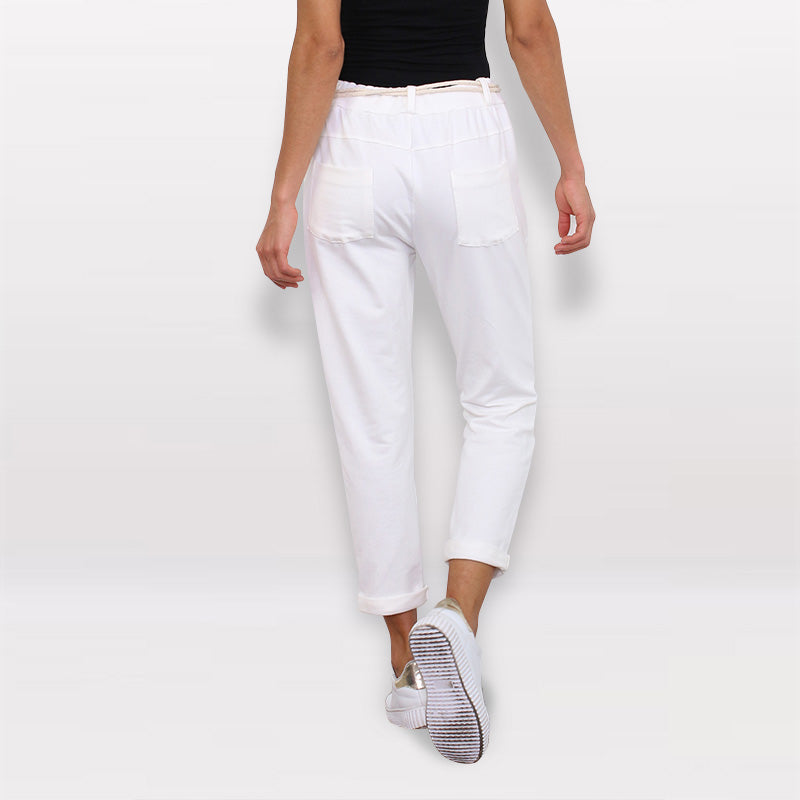 Jessica Jogger Trousers White