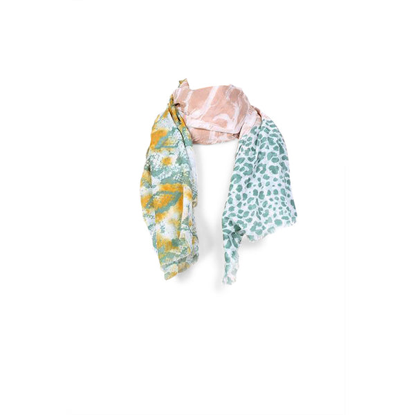 Multi Print Scarf Animal Pink