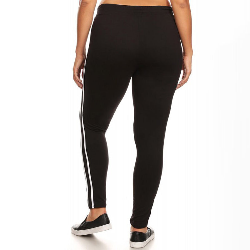 Curve Stripe Jogger Black