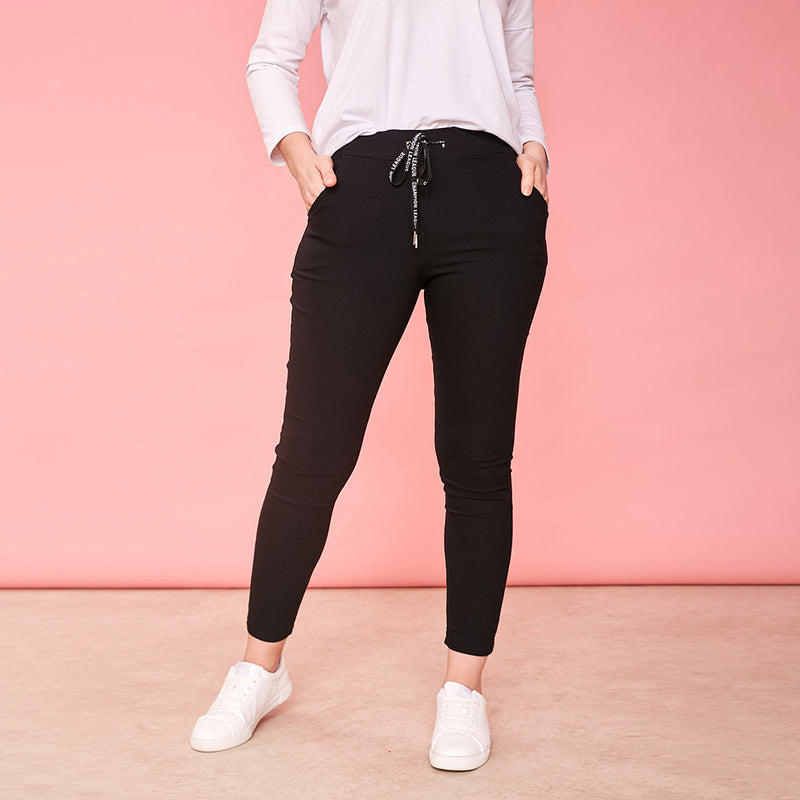 Riona Stretch Trouser (Black)