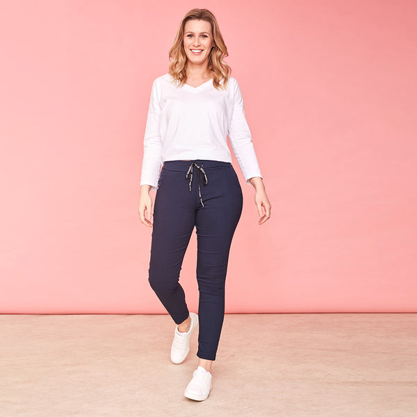 Riona Stretch Trousers (Navy)
