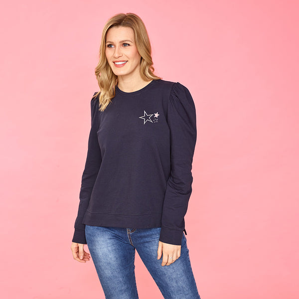 Clara Star Jumper (Navy)