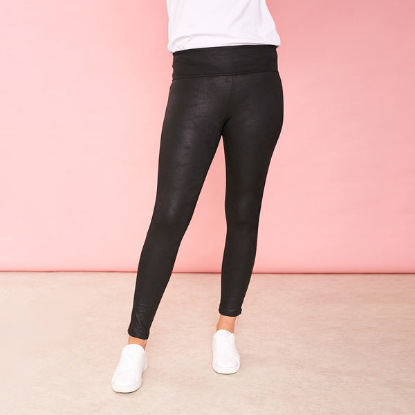 Ellie Leather Legging (Black)