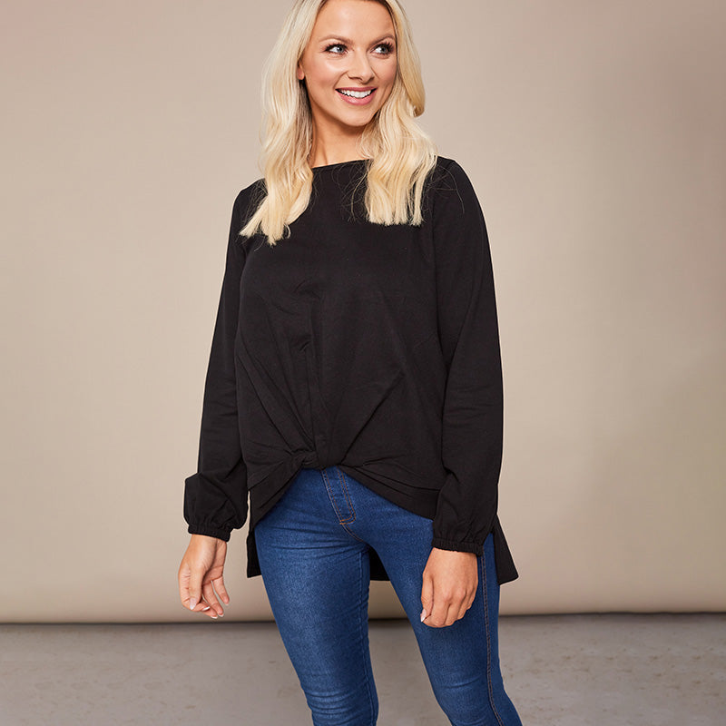 Joanne Knot Jumper Black
