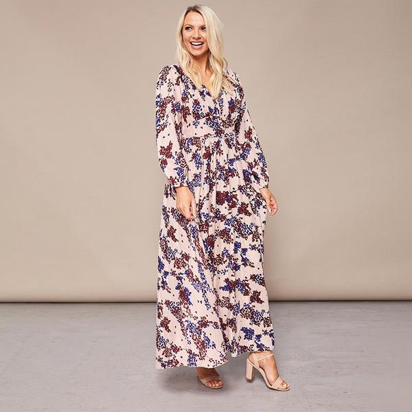 Maisy Maxi Dress Cream Floral