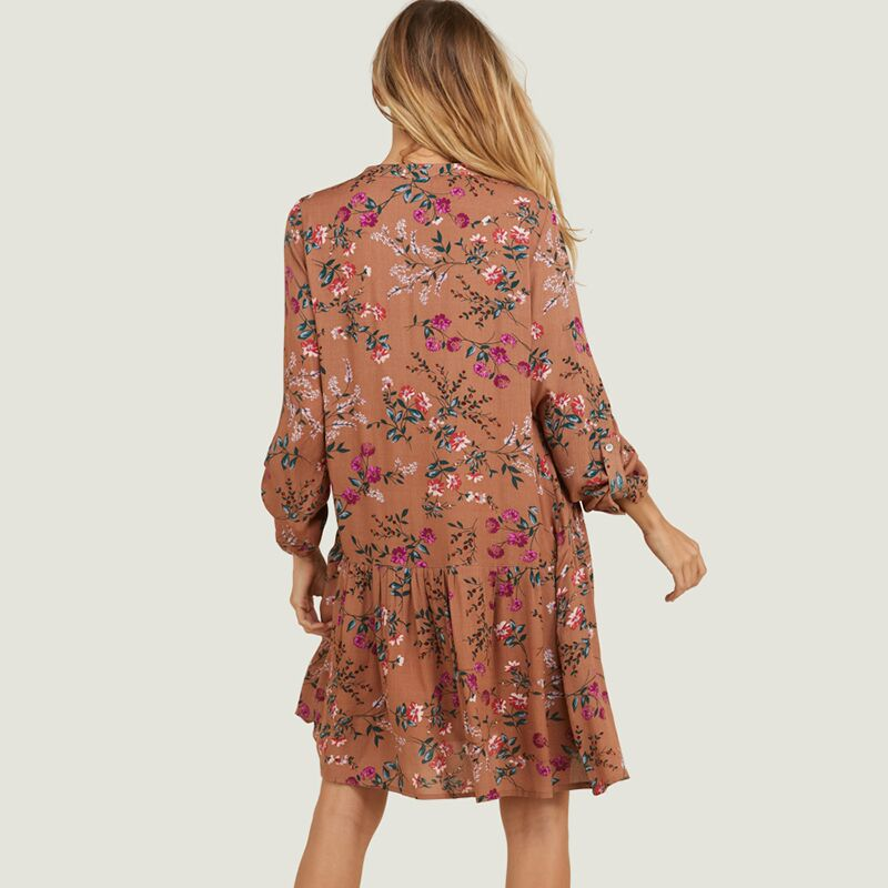 Floral Button Down Midi Dress
