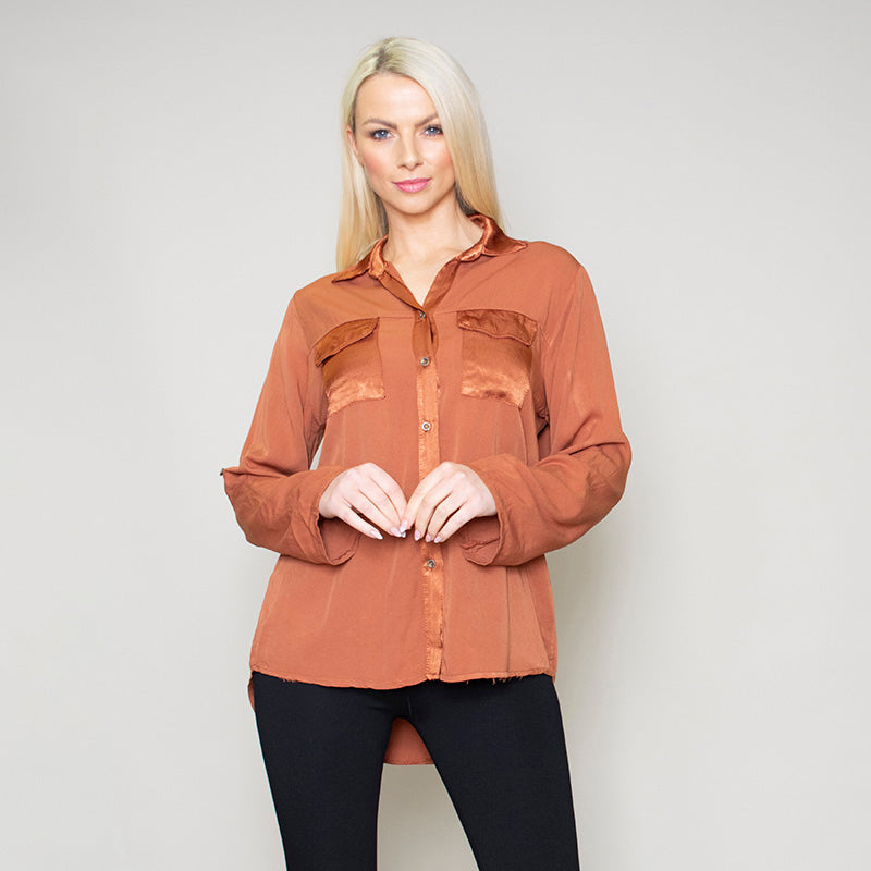 Carrie Pocket Shirt (Bronze)