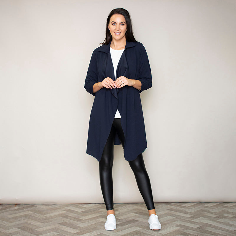 Jenny Waterfall Cardigan (Navy)