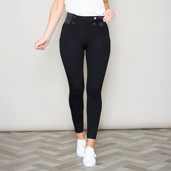 Geri Button Trousers (Black)