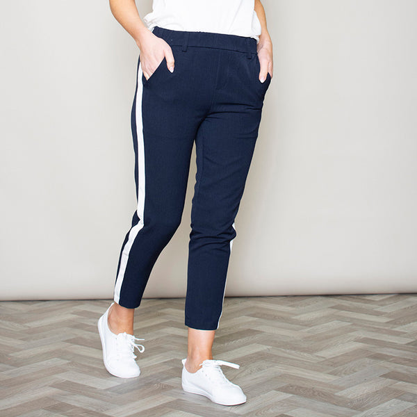 Nikki Navy Stripe Trousers