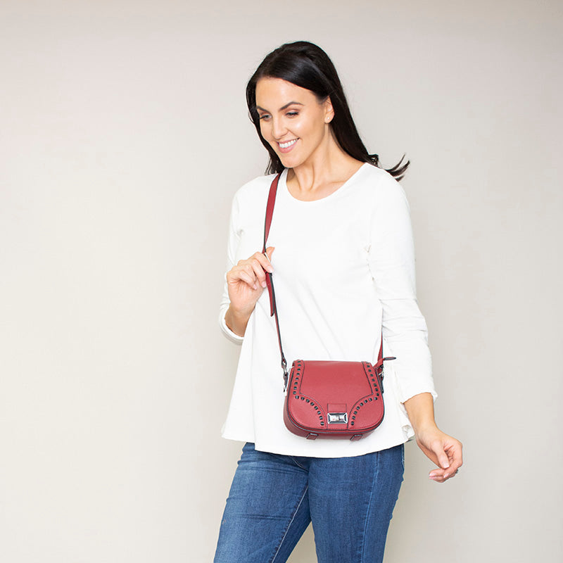 Riona Raspberry Crossbody Bag