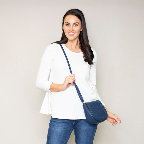Nina Navy Crossbody Bag