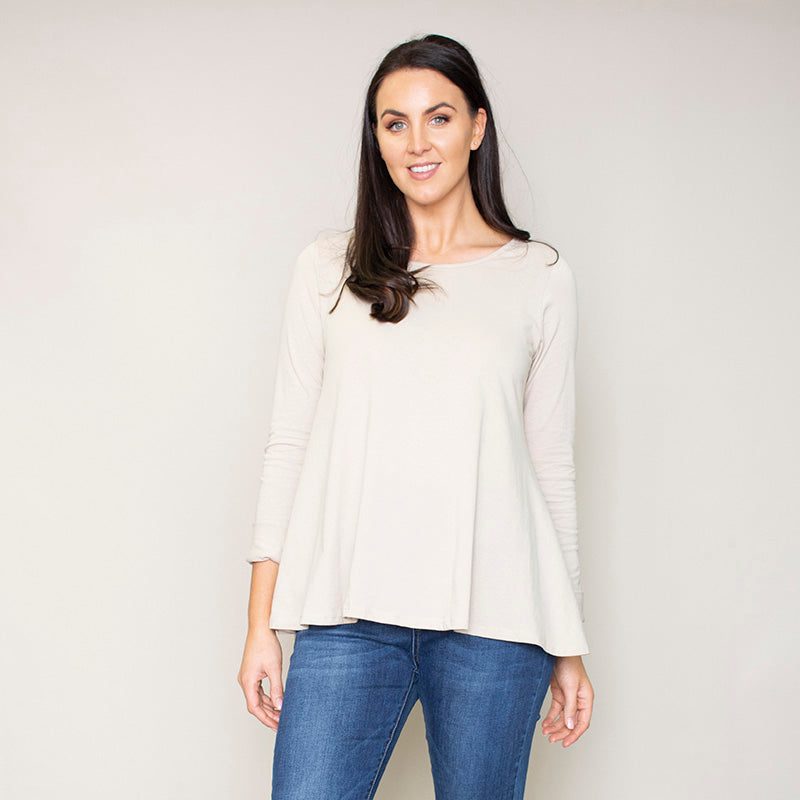 Sonia Swing Round Neck Top (Hazel)