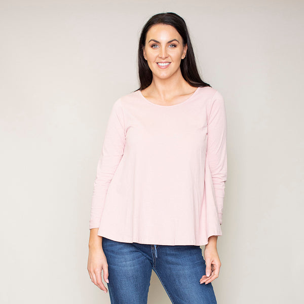 Sofia Swing Round Neck Top (Blush)