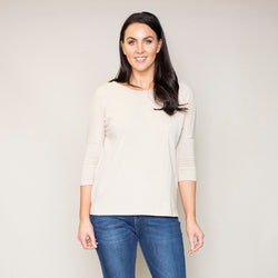 Perry Relaxed Fit Round Neck Top (Hazel)