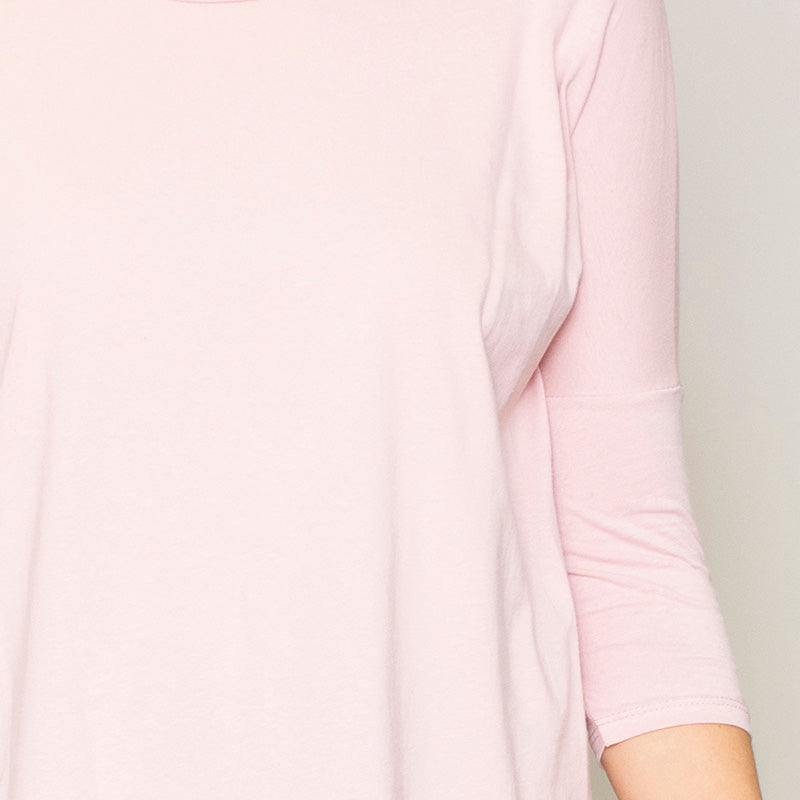 Perry Relaxed Fit Round Neck Top (Blush)