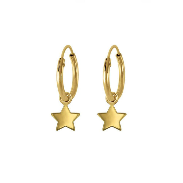 Star Mini Hoop Earings Gold
