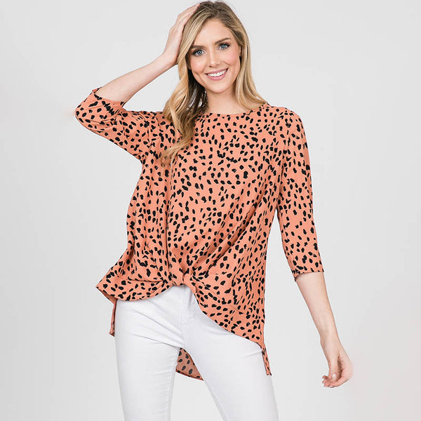 Annie Animal Print Blouse