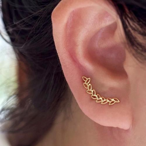 Leaf Vine Ear Climber Earing Gold