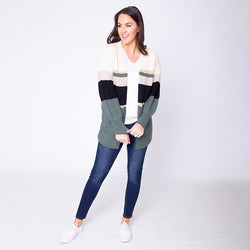Matilda Muted Cardigan Forest Green