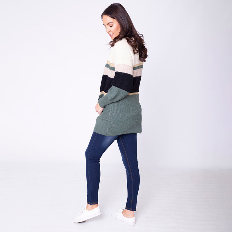 Matilda Cardigan (Forest Green)