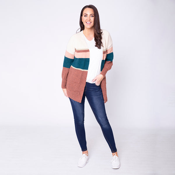 Matilda Muted Cardigan Rust