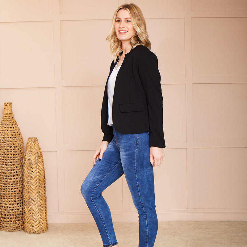Reese Stretch Blazer (Black)