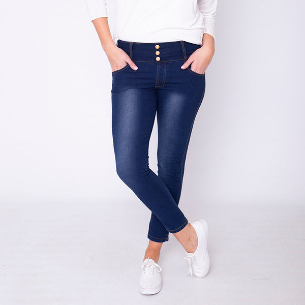 Beverly Button High Waisted Jegging Dark Denim