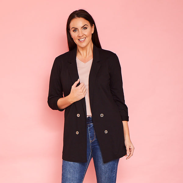 Kyla Stretch Blazer (Black)