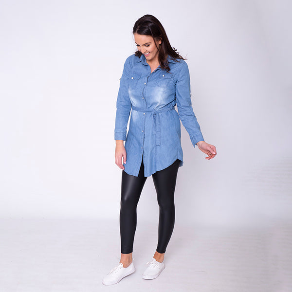 Mason Belted Denim Shirt