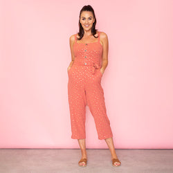 Isabella Sweetheart Jumpsuit (Rose)
