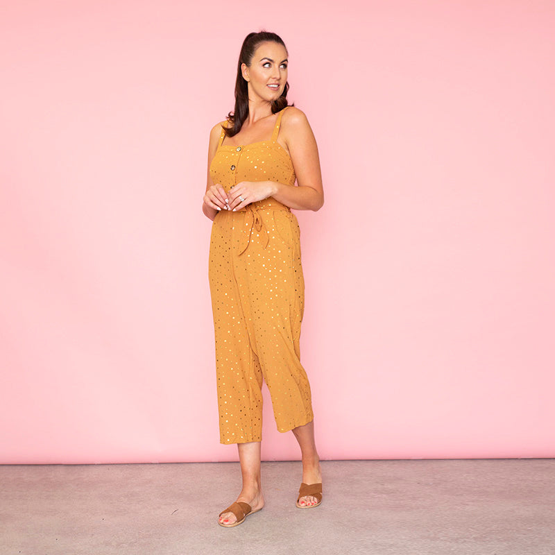 Isabella Sweetheart Jumpsuit (Peach)