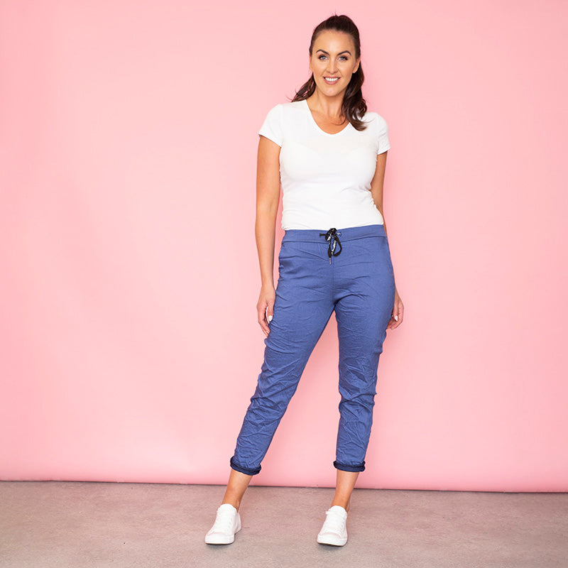 Billie Crinkle Jogger (Denim Blue)