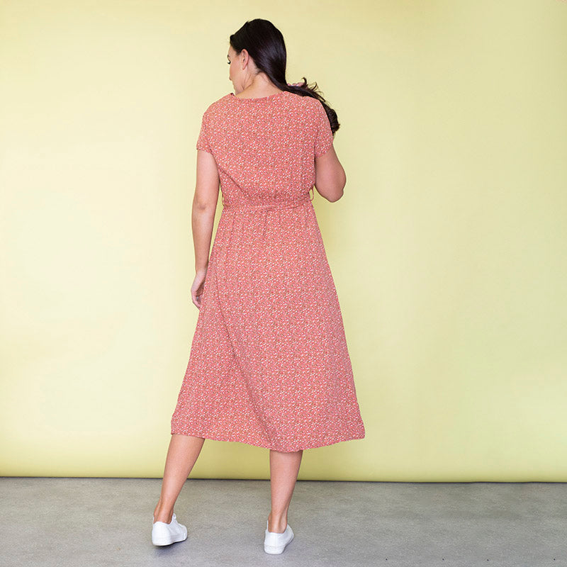 Carmen Floral Midi Dress (Strawberry)