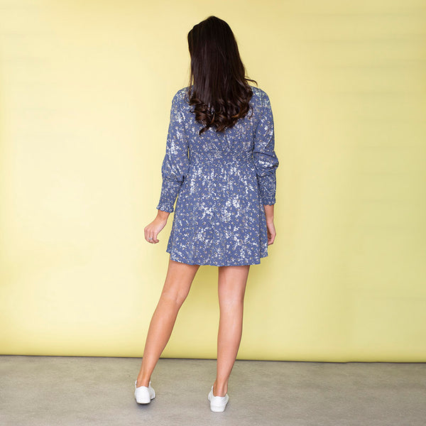 Penelope Floral Dress (Bluebelle)