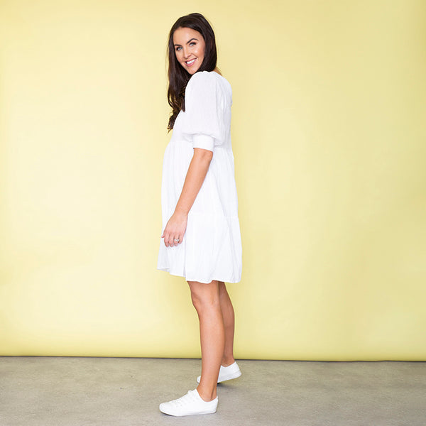 Sienna Pocket Dress (White)