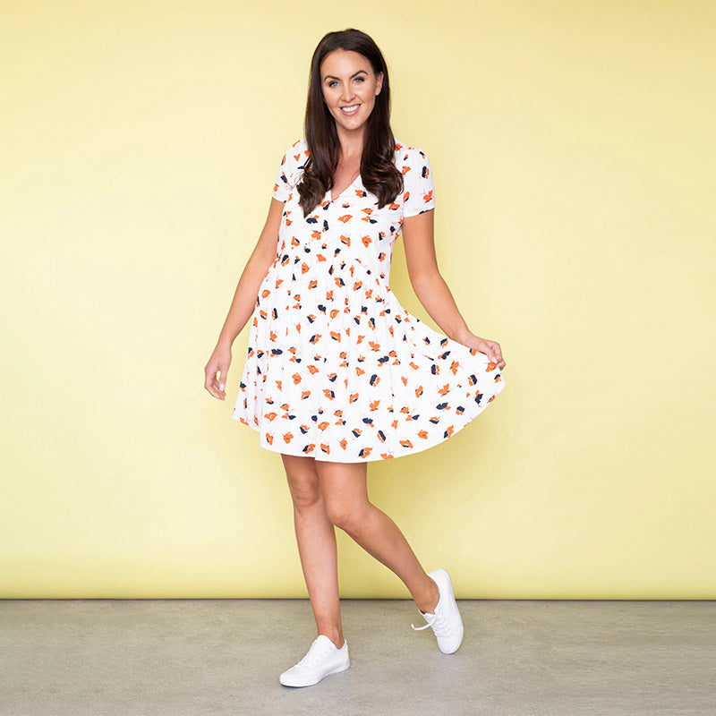 Hannah Swing Dress (Poppy)