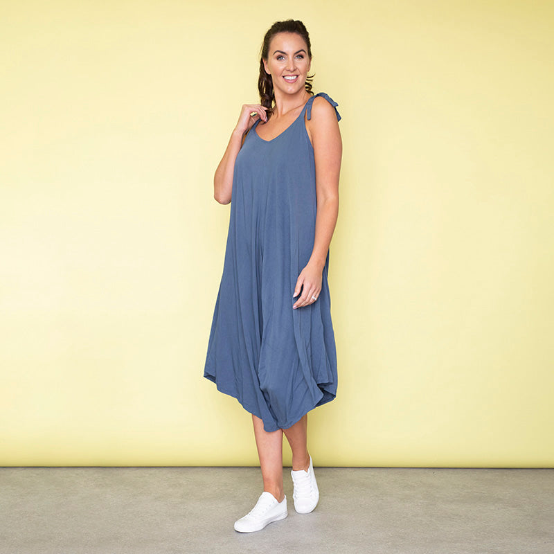 Frankie Relaxed Fit Jumpsuit (Blueberry)