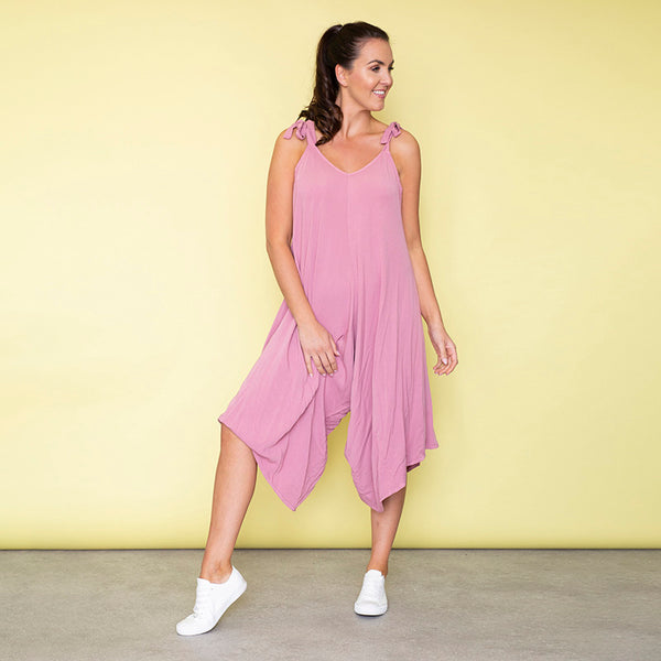 Frankie Relaxed Fit Jumpsuit (Rose)
