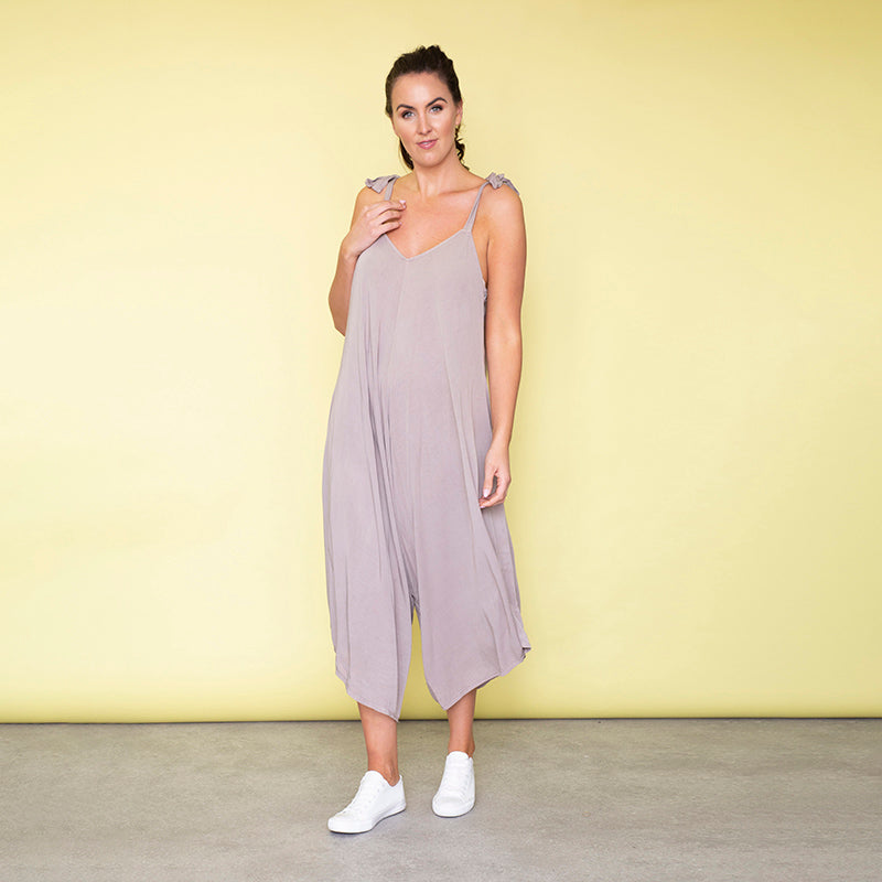 Frankie Relaxed Fit Jumpsuit (Sand)