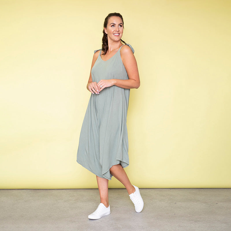 Frankie Relaxed Fit Jumpsuit (Khaki)