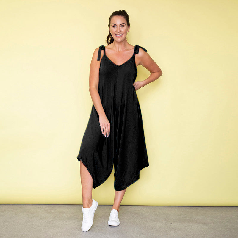 Frankie Relaxed Fit Jumpsuit (Black)