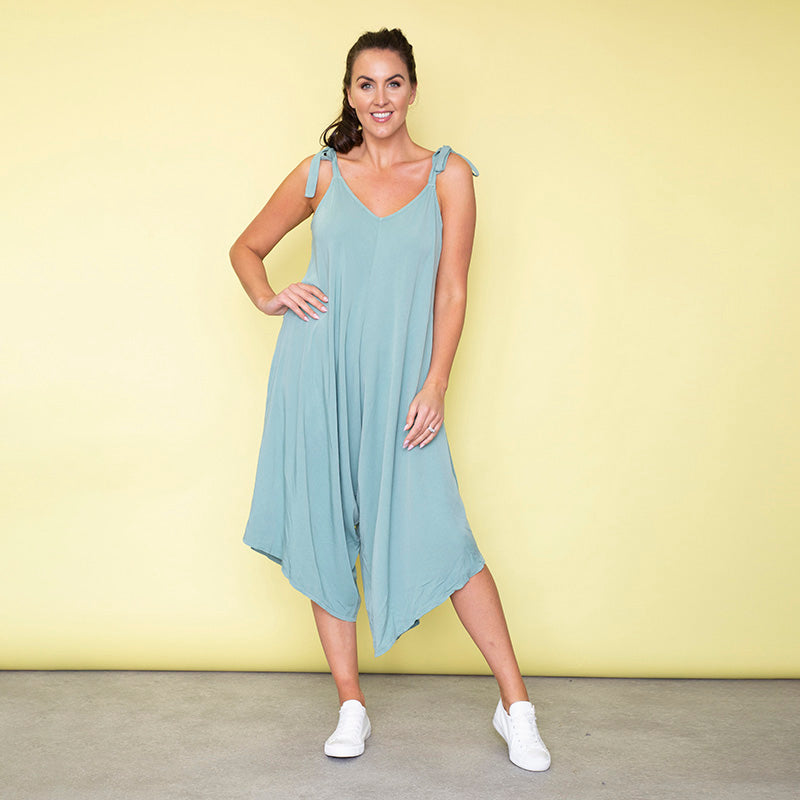 Frankie Relaxed Fit Jumpsuit (Duck Egg)