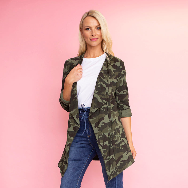 Amy Stretch Blazer (Camo)