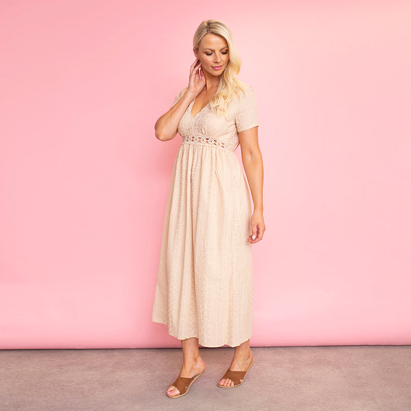 Tilly Dress (Beige)