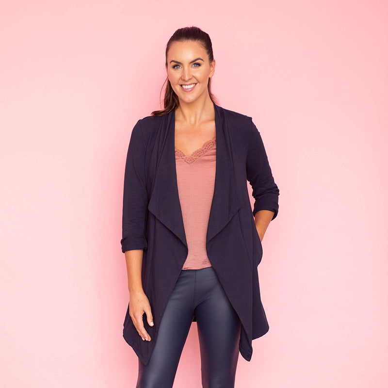 Amy Stretch Blazer (Navy)