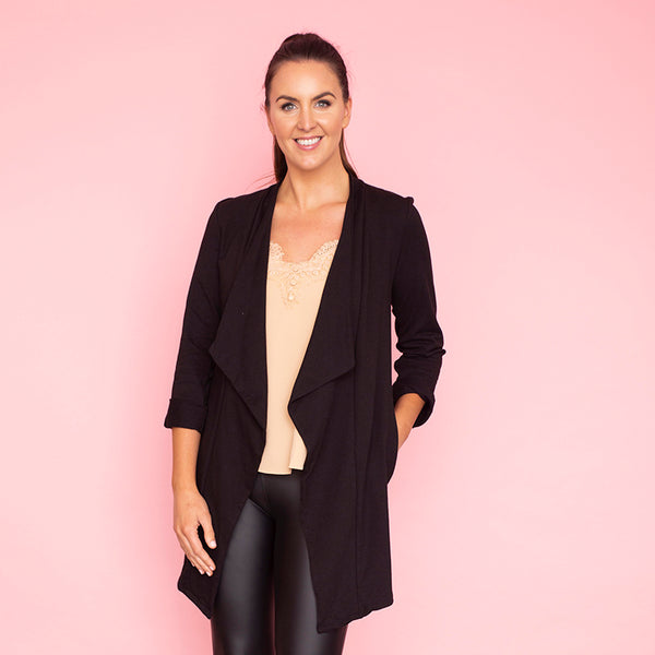 Amy Stretch Blazer (Black)