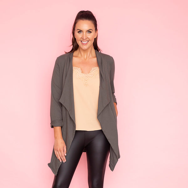 Amy Stretch Blazer (Khaki)