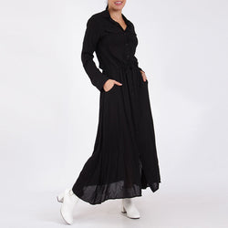 Shirt Maxi Dress Black